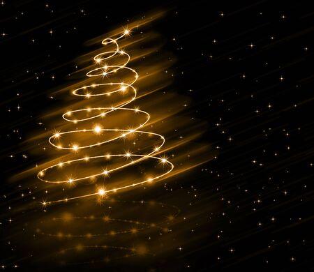 RBol de navidad de oro de fondo Foto de archivo - 88021476