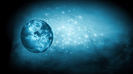 Earth from Space. Best Internet Concept of global business from concepts series