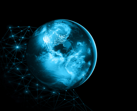 Earth from Space. Best Internet Concept of global business from concepts series. Elements of this image furnished by NASA. 3D illustration Stock Photo