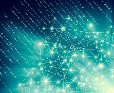 Connexion Internet, sens abstrait de la conception graphique de la science et de la technologie. illustration. Contexte technologique, concept Internet du commerce mondial