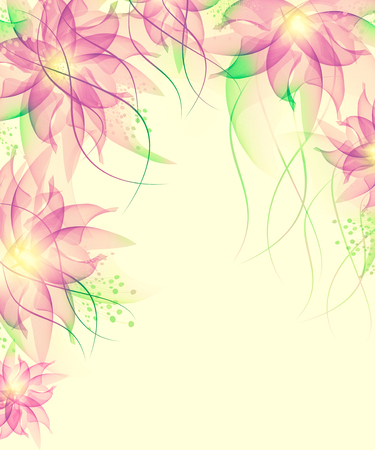 Floral romantic tender background Banque d'images