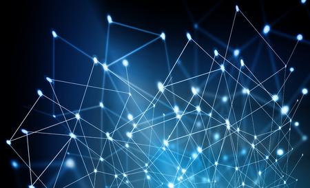 Fondo tecnológico, concepto de Internet de negocio global. Conexión a Internet, resumen de diseño gráfico de ciencia y tecnología.