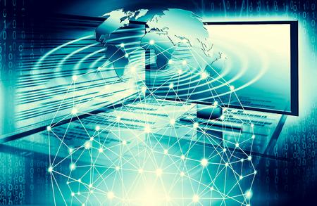 Best Internet Concept of global business.Technological background