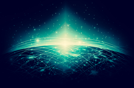 Earth from Space. Best Internet Concept of global business from concepts series.