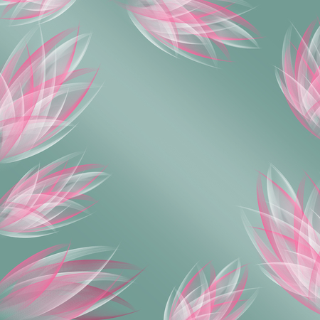 Easy beautiful abstract flowers for your design