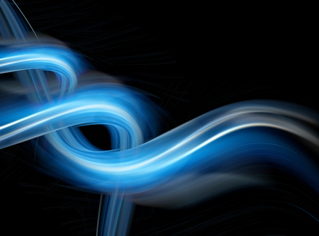 Abstract blue background, beautiful lines and blur, abstract lines twisting into beautiful bends