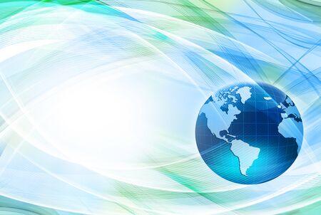 Best Internet Concept of global business. Globe, glowing lines on technological background. Rays, symbols Internet, 3D illustration