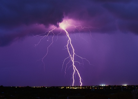 rainstorm: Lighting over SE Arizona in August. Stock Photo