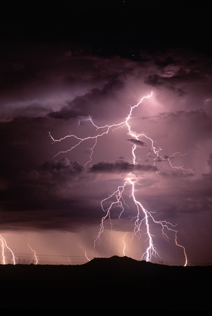 lightning storm: Lighting over SE Arizona in July.
