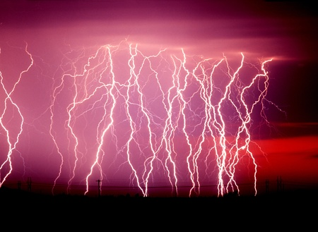 Lightning near Tucson, AZ in August. Stock Photo - 13597260