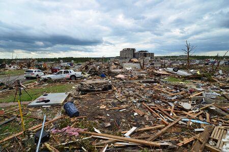 mimo: Los da�os causados ??por EF5 tornado que azot� Joplin, MO el 22 de mayo de 2011.