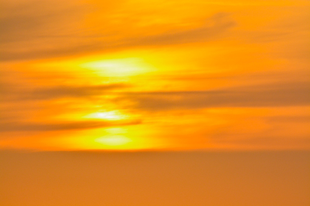 Sunset over the Gulf of Mexico on Indian Rocks Beach in Florida Stock Photo