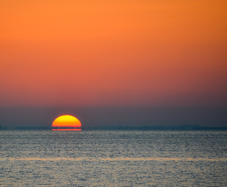Gorgeous Sunrise over Tampa Bay in Florida. Stock Photo - 79375080