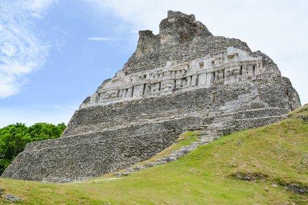 Visiting the Mayan ruins in Belize on vacation.