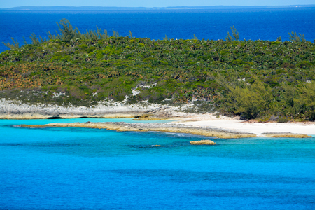 Looking over Half Moon Cay, Bahamas from a Cruise Ship.