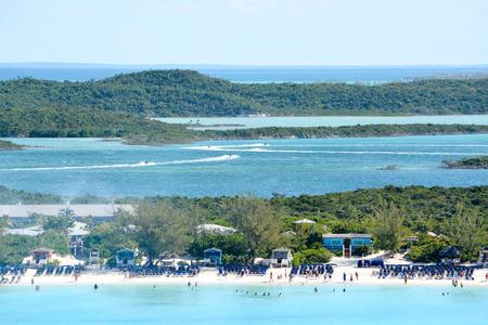 Looking over Half Moon Cay, Bahamas from a Cruise Ship.
