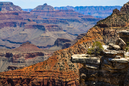 A view of the Grand Canyon in the Grand Canyon National Park in Arizona USA