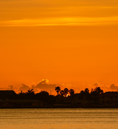 Sunset from Belleair causeway on the inter coastal in Belleair Bluffs, Florida Stock Photo