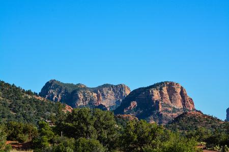 desert ecosystem: Towering landscape in Sedona Arizona Stock Photo