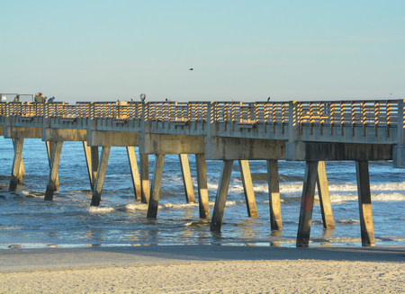 The Jacksonville Beach Pier on the Atlantic, Duval County, Florida.