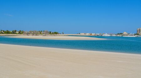 Al Hamra Beach on the Arabian Gulf at Ras Al Khaimah, United Arab Emirates, Southwest Asia. Banco de Imagens