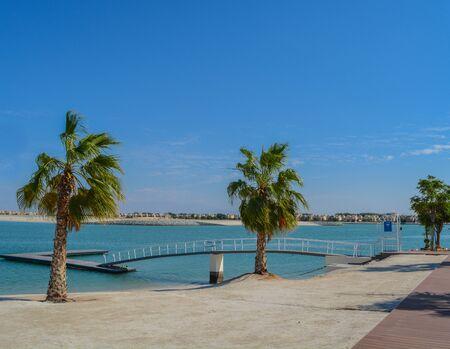 Al Hamra Ferry Dock on the Arabian Gulf at Ras Al Khaimah, United Arab Emirates, Southwest Asia Banco de Imagens