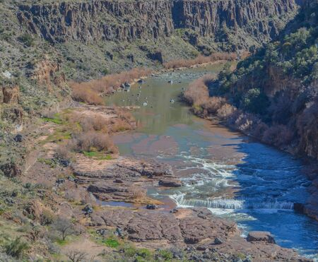 Scenic Beauty of Salt River Canyon in Gila County, Tonto National Forest, Arizona USA