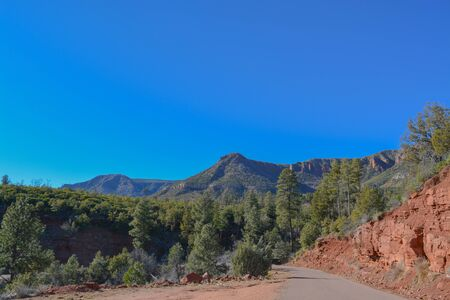 The Mogollon Rim mountain range in Tonto National Forest. Near Payson, Gila County, Arizona USA