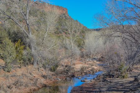 Carrizo Creek flowing through Carrizo in the Fort Apache Indian Reservation, Carrizo,  Arizona USA