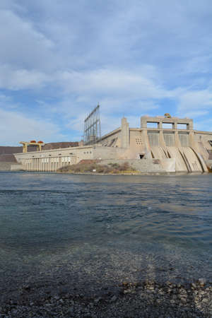 Davis Dam Hydroelectric Power Plant on the Arizona side of the Colorado River