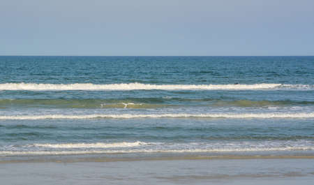 Beautiful view of the surf in New Smyrna Beach on the Atlantic Ocean, Volusia County, Florida
