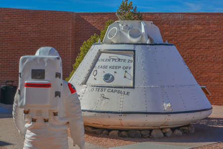 NASA used this Apollo Test Capsule in the Meteor Crater Natural Monument before the Astronauts went to space