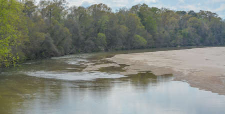The Homochitto River flowing peacefully through the forest in Franklin County, Mississippi