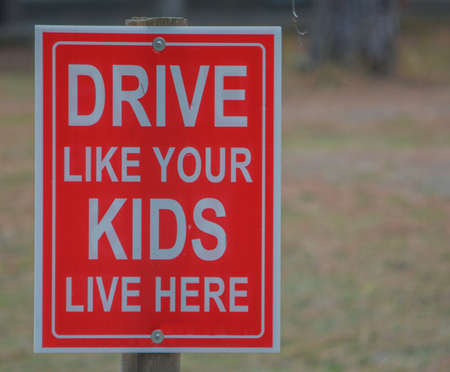 Drive like your Kids live here, sign in Idaho 免版税图像