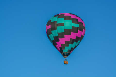 Peaceful flight over sunny Arizona in a brightly colored Hot Air Balloon. Maricopa County, Arizona