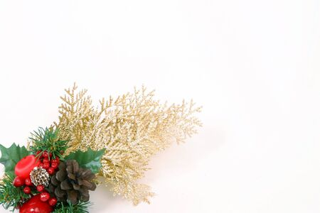 christmas decor on a white background