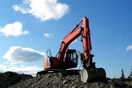 earth moving: earth moving exavator