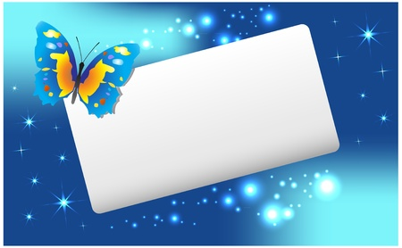 Abstract  banner with  butterfly and stars Stock Vector - 8609996