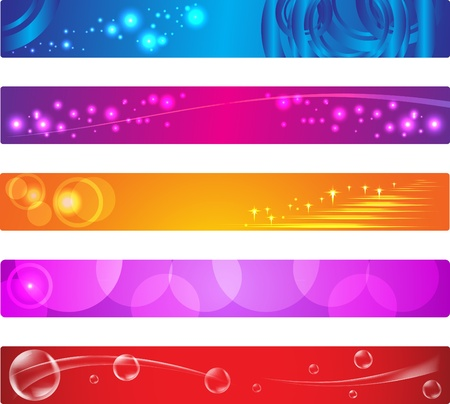 set of colorful banners with custom text  .