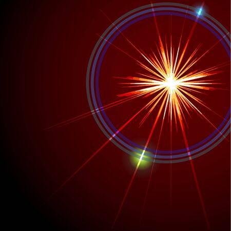 An abstract lens flare. Very bright burst - works great as a background. Illustration