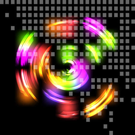 Abstract colorful techno background. illustration. Illustration