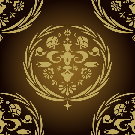 Vintage seamless pattern for retro wallpapers. illustration. Vector