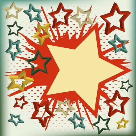 background of explosion star. illustration. Vectores