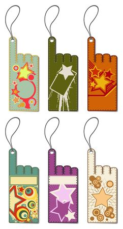 Set of colorful price tags. Vector illustration.