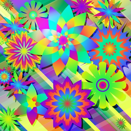 Abstract beautiful flower background art. Vector