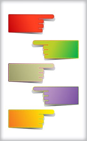 Set of colorful blank  stickers. Stock Vector - 10418753