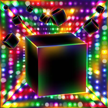 Abstract cube art background.  Stock Vector - 10618952