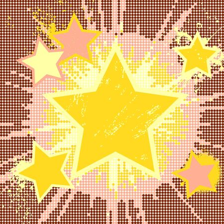 Vector grunge abstract background of explosion star.  Vector