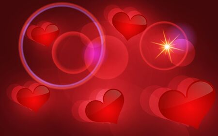 Abstract vector background with hearts. Vector illustration. Illustration