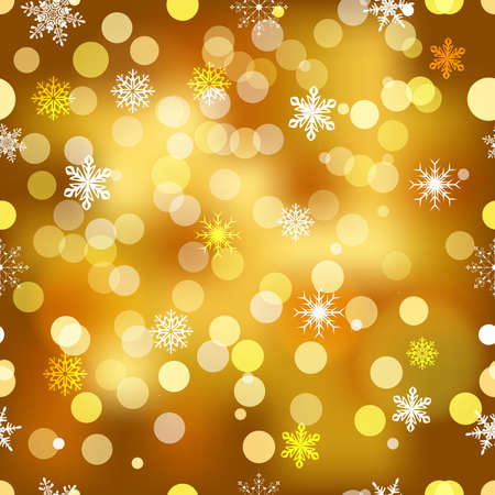 Vector seamless snowflakes background for winter and christmas theme. Illustration